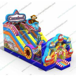 대형 야외 커머셜 카니발 팽창식 슬라이드 팽창식 드라이 슬라이드 판매 Sl1166