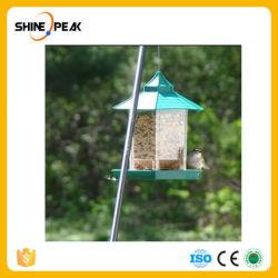 Alimentatore Padiglione-A forma di verde dell'uccello che appende resistente di acqua esterno del giardino