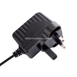 Usine de SGS vérifié BS1363 UK adaptateur de fiche 12W 5V 9V 18V 24V AC adaptateur d'alimentation DC 12V 1A 1000mA Adaptateur pour Set Top Box