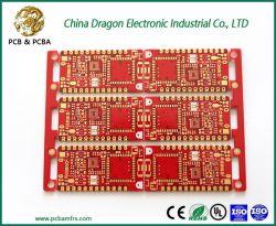 L'impression d'or BGA rouge fr4 Carte de circuit imprimé