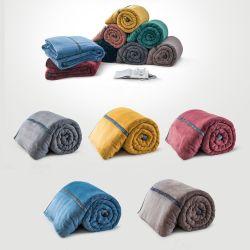 Flanela, velo polar, Lambskin e outros Single-Layer e Double-Layer cobertores em várias cores e tamanhos