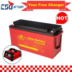 Csbattery 12V 100ah/150ah/200ah 심방전 - VRLA/SLA/SMF/MF/AGM/충전식/UPS/납산/팩/전력 저장용/인버터/스쿠터/CSA용 젤 솔라 배터리