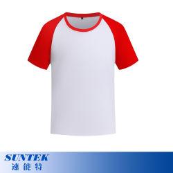Сублимация полиэстер цвет сшивка Реглан короткие втулки Tshirts для детей
