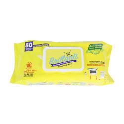 Desinfección de los tejidos de limpieza antibacteriales las toallitas húmedas