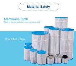 Blauwe en witte Pet Pleated zwembad Cartridge Filters Made Door Darlly Filtration
