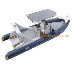 Liya 22feet PVCまたはHypalonのスポーツのボートFRPの肋骨のボート