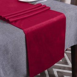 Cama de terciopelo decorativos de la deslizadera Mantel para mesa de Bodas Hotel Runner