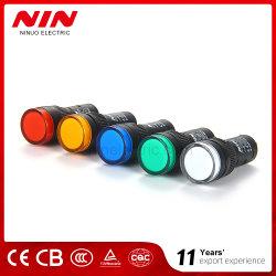 16mm 원형 LED 표시등 빨간색
