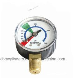 Manomètre de pression d'oxygène pour les régulateurs de gaz d'oxygène.