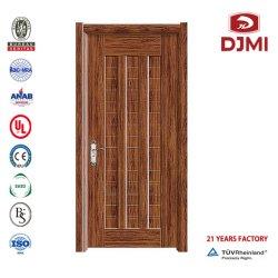 Porte en acier plaqué teck personnalisés design extérieur en bois massif portes blindées porte métallique