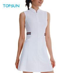 Женщин Снимите эластичный теннис юбка женщин Sportswear быстрого сжатия сухой настольный теннис одежда мода йога из одного куска настольный теннис одежда