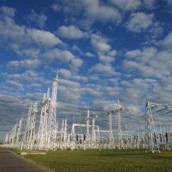 Estrutura da Subestação de Transmissão de Energia Pólo Tubular de Aço