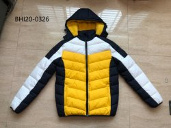 2020 Nouveau style à la mode hiver chaud rembourrage Colorfur hommes veste de sport