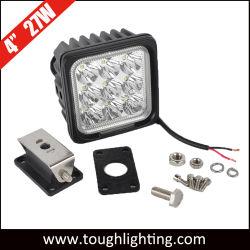 مصابيح عمل LED للخدمة الشاقة E-Approvعليها 4 بوصات، 27 وات، IP67 للتعدين