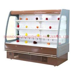 L'équipement commercial de légumes Fruits magasin Affichage Multi-Deck rideau d'air du refroidisseur d'armoire du refroidisseur