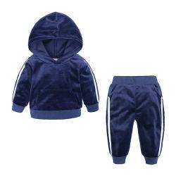 2020 Sprung-Herbst-Kinder Pleuche Hoodies langer Hülsen-Baby-Mädchen-Pullover Hoodie gesetzter Sport stellte ein