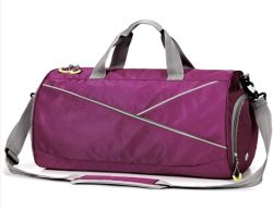600D 옥스포드 방수 가방 패션 여행용 가방 스포츠 가방 체육관 내부 드라이 백 및 신발 백이 있는 가방