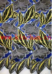Горячий Seling африканских Handcut швейцарских Voile кружевной ткани с множеством камней