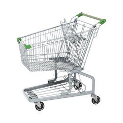 Duitse metalen supermarkt Shopping Trolley voor Convenience Store
