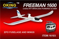 Freeman 1600--RTF 4CH 2,4 GHz brushless Powered Glider (16103)