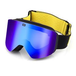 자석 렌즈 Revo 미러 입히는 렌즈 스키를 타는 성숙한 눈 고글