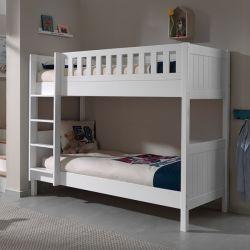 ホットセリングソリッドパインウッドの二段ベッド、キッズダブルデッキ ベッド