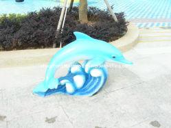 섬유유리 돌고래 조각품