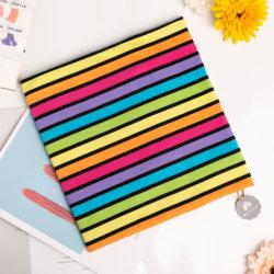 Baumwoll-Lycra-Garn Dye Rainbow Stripe Jersey Stoff
