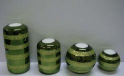 Supporto di candela di vetro di Natale (NC-3061R)