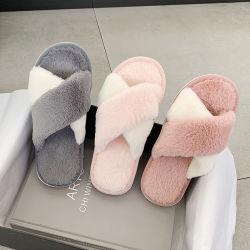 2020 de Hete Verkopende BinnenSchoenen van het Bont van de Meisjes van de Pantoffel van de Pluche van de Stijl Sandals van Vrouwen In het groot Recentste Warme
