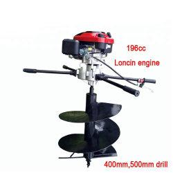 196 cc 4-takt benzine-grondboor met 500 mm boor