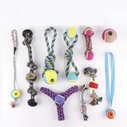애완용품 애완용 Dog Toys Interactive Cotton Rope Knot Set Bite 내성이 있는 애완동물 장난감 제조업체 도매 새끼 고양이 강아지 밀 애완동물 로프 취토이