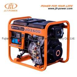 Petit générateur diesel de type Kipor à châssis ouvert faible puissance mobile portable 2kw 2kVA 5kw 6kw 6kVA 7kw 7kVA avec démarrage à clé, main et roues