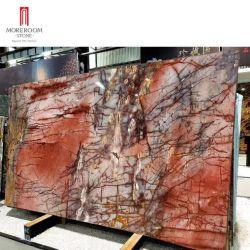 Gran losa de granito rojo de cuarcita cosmopolita colorido