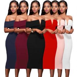 2019 년 섹시한 패션 칵테일 정식 이브닝 프림 밴드 드레스