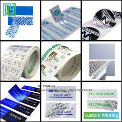 Papier Laser en vinyle PVC Logo de transfert de chaleur Numéro Nom bouclier de soins de sécurité Inviolable Void autocollant