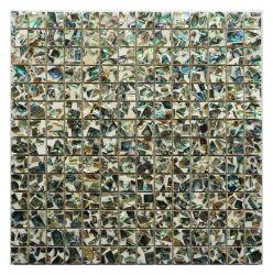 مادة طبيعية Sea Shell Mosaic تجانب الأم لؤلؤة الحرف اليدوية