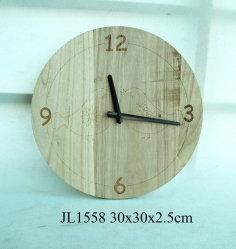 Деревянные Настенные часы с высоты птичьего полета Laser-Cutted