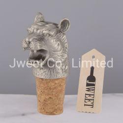 Tappo superiore animale della bottiglia di vino del metallo della capsula della tigre su ordinazione
