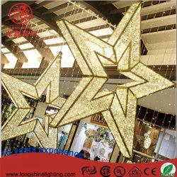LED 3D étoile énorme de plein air Motif de la forme de lumière pour la décoration de Noël