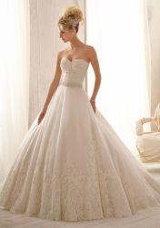 Роскошный валика ремня свадебные вечерние платья шарик платье свадебные платья