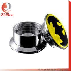 Zhirenのステンレス鋼の内部通されたロゴの耳のトンネル、ロゴの肉のトンネル、ロゴボディ宝石類