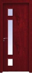 WPC водонепроницаемый двери двери из ПВХ, стеклянные ванные комнаты вступление Дверцы рамы