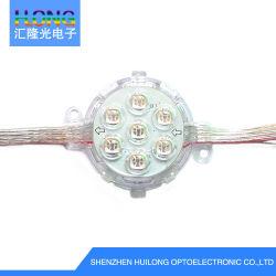 7 PC mini RVB à plat en aluminium moulé pour la signalisation d'éclairage LED DMX
