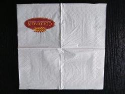27*27cm de papier d'impression du logo de pain de serviettes de table