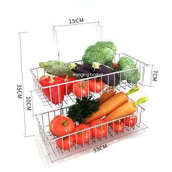 De Functionele Mand van de Keuken van de Houder van de Opslag van het Fruit van het Rek van het Afvoerkanaal van de Groenten van het Roestvrij staal van Maxluck