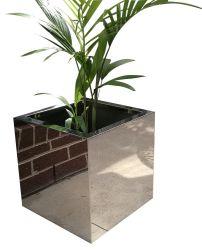 Flowerpot del giardino dell'acciaio inossidabile con il polacco della sabbia dello specchio