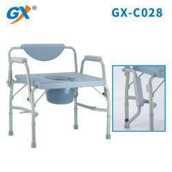 Altura ajustable Non-Slip cómoda silla ampliado pesado de acero inoxidable wc