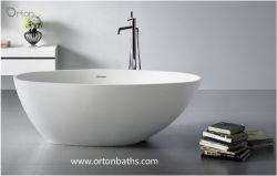 Nouveau Cupc Surface solide de l'acrylique transparente baignoire autostable sanitaire