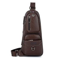La mode de vente en gros sac de poitrine cuir synthétique pour l'homme